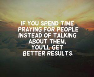 Less talk, more prayer