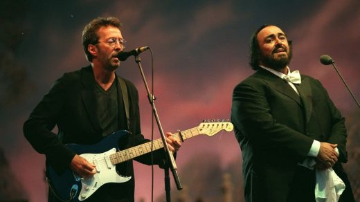 Eric Clapton and Luciano Pavarotti sing Holy Mother