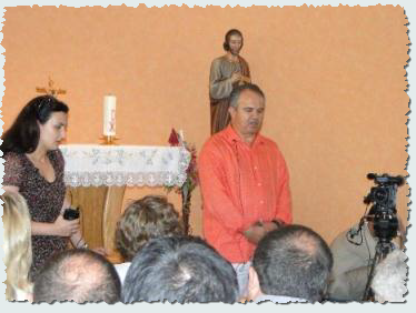 Ivan speaking after an apparition