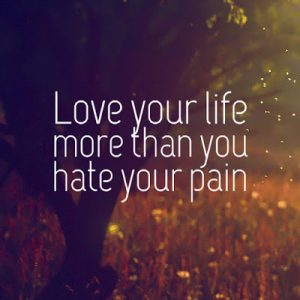 Love over pain