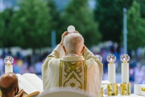 Archbishop Hoser Eucharist in Medjugorje