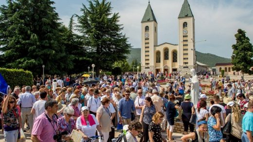 Tens of thousands of pilgrims visit Medjugorje